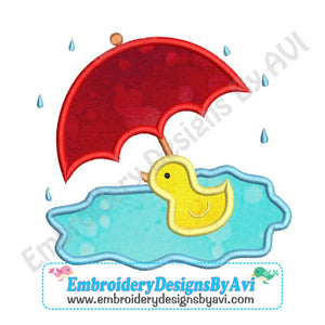 Rubber Duck Applique Embroidery Design 1