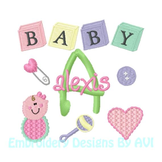 FANCY GIRLS  10 MACHINE EMBROIDERY DESIGNS CD or USB