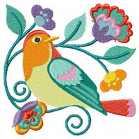 Jacobean Birds and Flowers Machine Embroidery Designs Set of 10 - Embroidery Designs By AVI