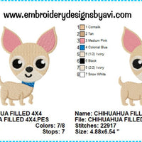 Chihuahua Puppy Dog Embroidery Design Charts