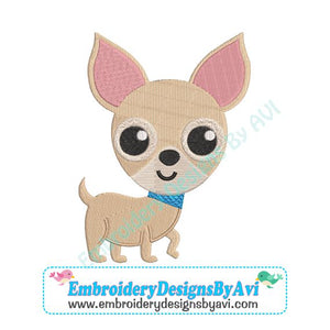 Chihuahua Puppy Dog Embroidery Design Download