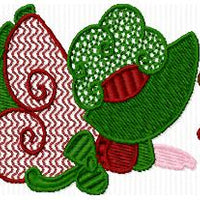 Fancy Christmas Sunbonnet Sun Bonnet Sue Machine Embroidery Designs Set of 10 - Embroidery Designs By AVI