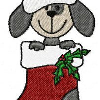 Christmas Puppy Dogs Machine Embroidery Design Set of 10 - Embroidery Designs By AVI