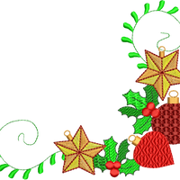 Christmas Decorations Machine Embroidery Designs Set of 10 - Embroidery Designs By AVI