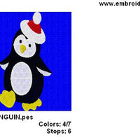 Free Christmas Penguin Machine Embroidery Design - Embroidery Designs By AVI
