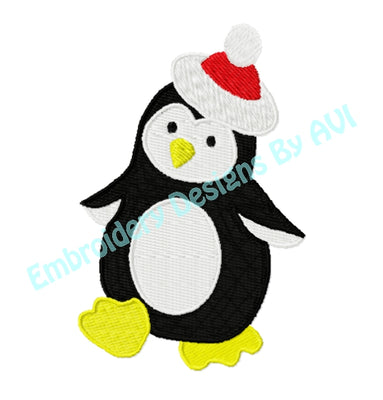Free Christmas Penguin Embroidery Design Download