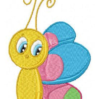 Kids Butterfly and Bugs Machine Embroidery Designs Set of 10 - Embroidery Designs By AVI