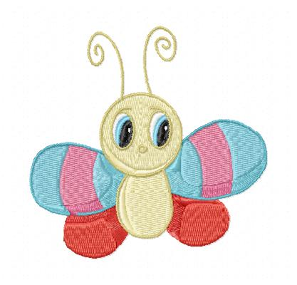 Kids Butterfly And Bugs Machine Embroidery Designs Set Of 10