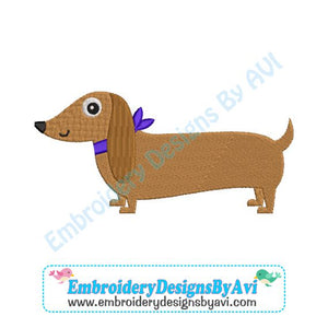 Dacshund Embroidery Design Download