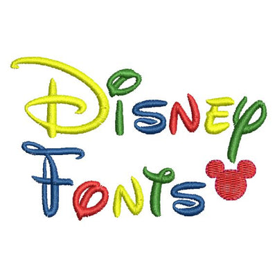 Disney Alphabet Monogram Fonts and Numbers Machine Embroidery Designs 3 Sizes Included - Embroidery Designs By AVI