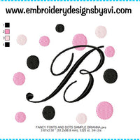Fancy Fonts and Dots Embroidery Monogram Fonts Chart
