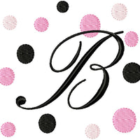 Fancy Fonts and Dots Embroidery Monogram Fonts Download