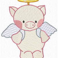 Farm Animal Angels Machine Embroidery Designs Set of 10 - Embroidery Designs By AVI