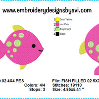 Fish Machine Embroidery Design Chart