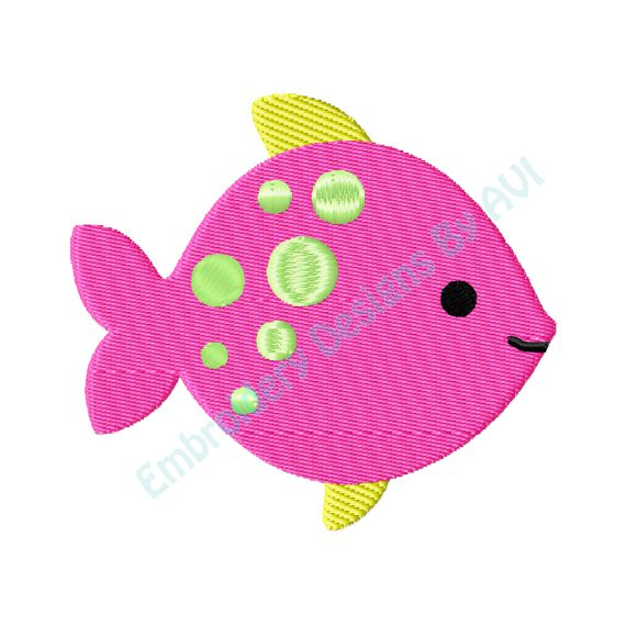 Fish Machine Embroidery Design Download