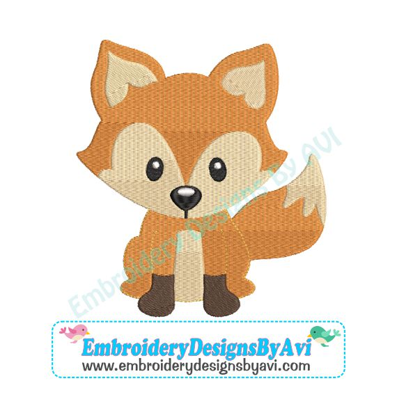 Fox Machine Embroidery Design Download