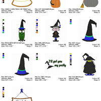 Halloween Witches Brew Machine Embroidery Designs Filled and Applique Set of 10 - Embroidery Designs By AVI