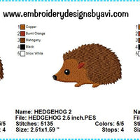 Hedgehog Machine Embroidery Design Charts