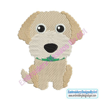 Labradoodle Puppy Dog Machine Embroidery Design