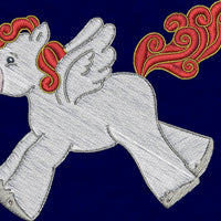 Pegasus Baby Pony Horse Machine Embroidery Designs Set of 10 - Embroidery Designs By AVI