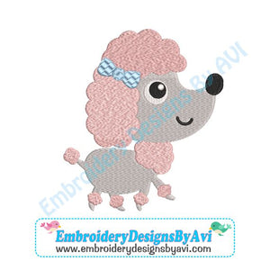 Poodle Embroidery Design Download