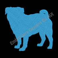 Pug Embroidery Design Download