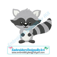 Raccoon Embroidery Design Download