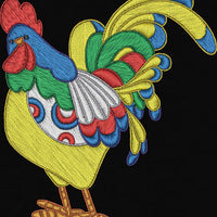 Fancy Curly Chicken Rooster Machine Embroidery Designs Set of 10 - Embroidery Designs By AVI