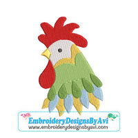 Rooster Head Fancy II Machine Embroidery Design - Embroidery Designs By AVI