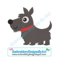 Scottish Terrier Scottie Dog Embroidery Design Download