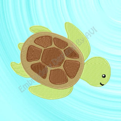 Sea Turtle Embroidery Design Download