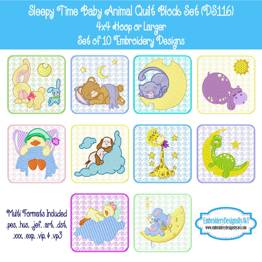 CUTE BABY BUNNY 10 MACHINE EMBROIDERY DESIGNS CD or USB