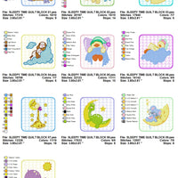 Baby Animal Quilt Block Embroidery Design Set Charts