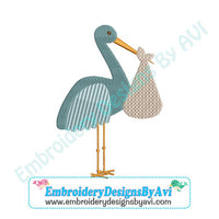 Stork Machine Embroidery Design to Download