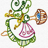 Sunbonnet Sun bonnet Sue Color Outline Machine Embroidery Designs Set of 10 - Embroidery Designs By AVI
