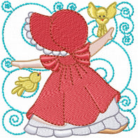 Sunbonnet and Bird Blocks Machine Embroidery Designs Set of 12 - Embroidery Designs By AVI