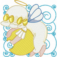 Sunbonnet Angels Quilt Blocks Machine Embroidery Designs Set of 12 - Embroidery Designs By AVI