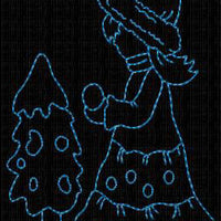 Winter Sunbonnet Sue Bluework Redwork Machine Embroidery Designs Set of 10 - Embroidery Designs By AVI