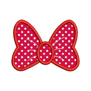 Applique Minnie Mouse Bow Machine Embroidery Design 4 Sizes - Embroidery Designs By AVI