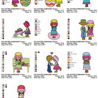 Easter Sunbonnet Sue Machine Embroidery Designs Set of 10 - Embroidery Designs By AVI