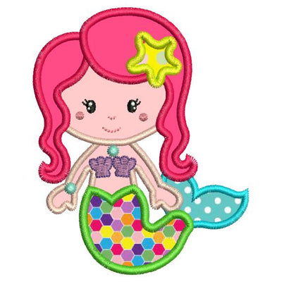 Applique Mermaid Machine Embroidery Design - Embroidery Designs By AVI