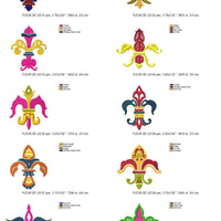 Fleur De Lis Lys Machine Embroidery Designs Set of 10 - Embroidery Designs By AVI