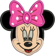 Applique Minnie Mouse Face Machine Embroidery Design - Embroidery Designs By AVI
