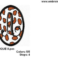 Cheetah Girl Applique Machine Embroidery Monogram Fonts Design Set - Embroidery Designs By AVI