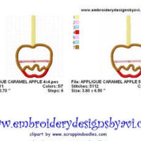Caramel Apple Applique Machine Embroidery Design - Embroidery Designs By AVI