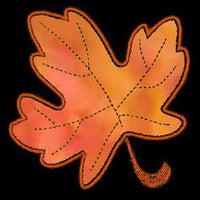 Fall Autumn Leaves Applique Machine Embroidery Designs Set - Embroidery Designs By AVI