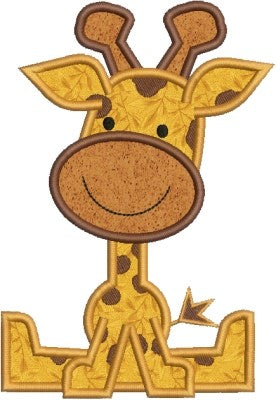 Zoo Baby Giraffe Applique Machine Embroidery Design - Embroidery Designs By AVI