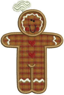 Gingerbread Man Chef Applique Machine Embroidery Design - Embroidery Designs By AVI