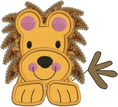 Zoo Baby Lion Applique Machine Embroidery Design - Embroidery Designs By AVI