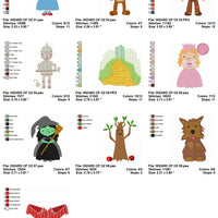 Wizard of Oz Cartoon Machine Embroidery Designs Set of 10 - Embroidery Designs By AVI